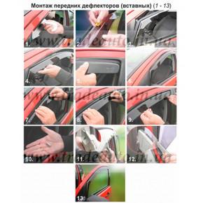 Дефлекторы окон Heko на BMW  3 Series Е46 1998-2004 Sedan