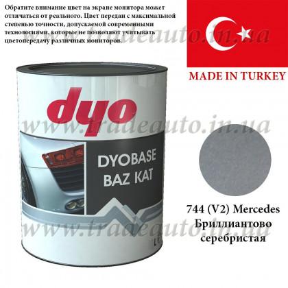 Краска металлик-база Dyo Mercedes 744V2 Бриллиантово-серебристый 1l